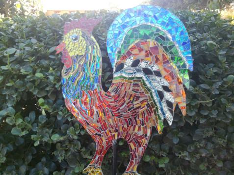 פסיפס זכוכית-התרנגול של גליה